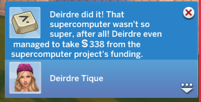 deirdre hacked the computer