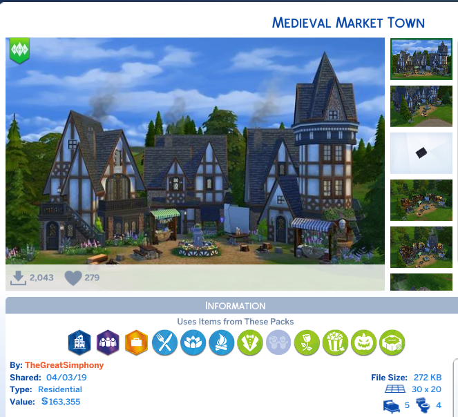 medieval market town credit